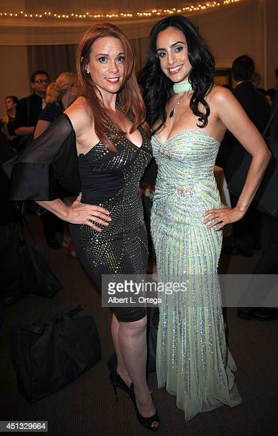 Actress Chase Masterson and actress Valerie Perez attend the After Party for the 40th Annual Saturn Awards held at on June 26 2014 in Burbank...