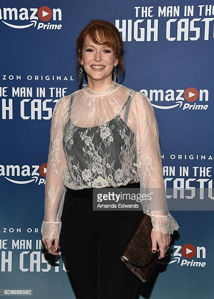 Actress Chelah Horsdal arrives at the premiere of Amazon's Man In The High Castle Season 2 at the Pacific Design Center on December 8 2016 in West...