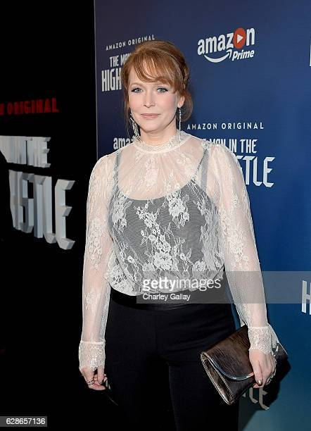 Actress Chelah Horsdal attends the Amazon Red Carpet Season Two Premiere Screening of Emmy Award Winning Original Drama Series 'The Man in the High...