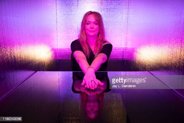 Actress Chelah Horsdal of 'The Man in the High Castle' is photographed for Los Angeles Times at ComicCon International on July 20 2019 in San Diego...