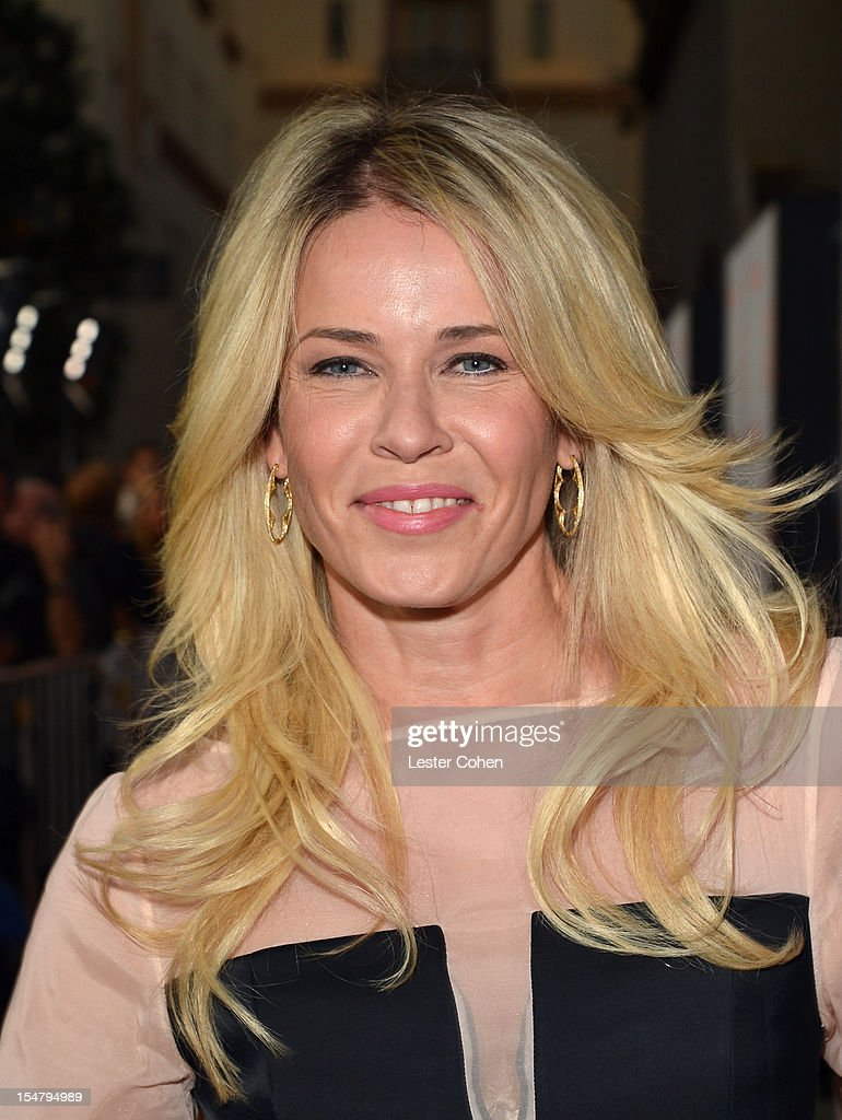 Actress Chelsea Handler arrives at the Los Angeles premiere of 'Fun Size' at Paramount Studios on October 25, 2012 in Hollywood, California.