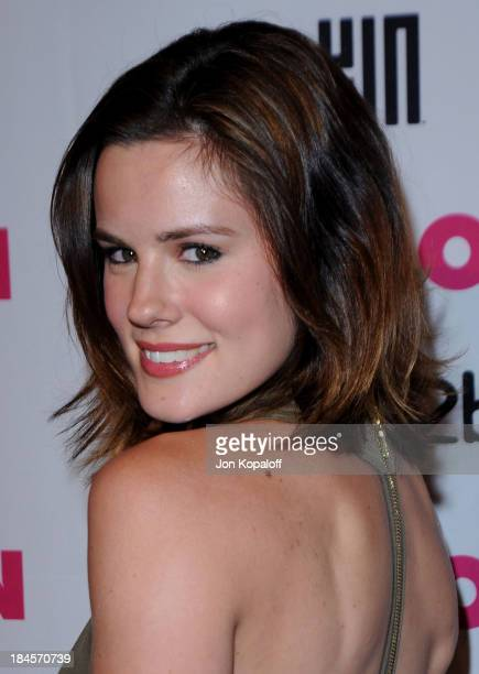 Actress Chelsea Hobbs arrives at NYLON Magazine's May Issue Young Hollywood Launch Party at The Roosevelt Hotel on May 12, 2010 in Hollywood,...