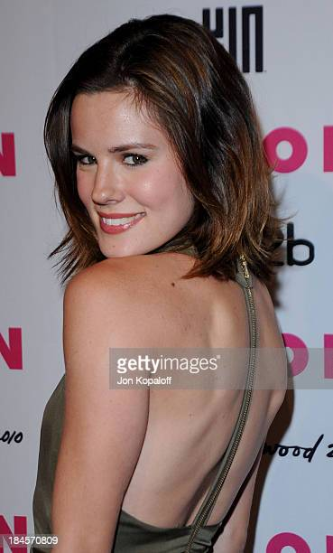 Actress Chelsea Hobbs arrives at NYLON Magazine's May Issue Young Hollywood Launch Party at The Roosevelt Hotel on May 12 2010 in Hollywood California