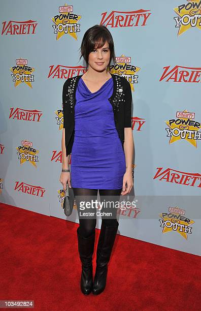 """Actress Chelsea Hobbs arrives at Variety's 3rd annual """"Power of Youth"""" event held at Paramount Studios on December 5, 2009 in Los Angeles, California."""