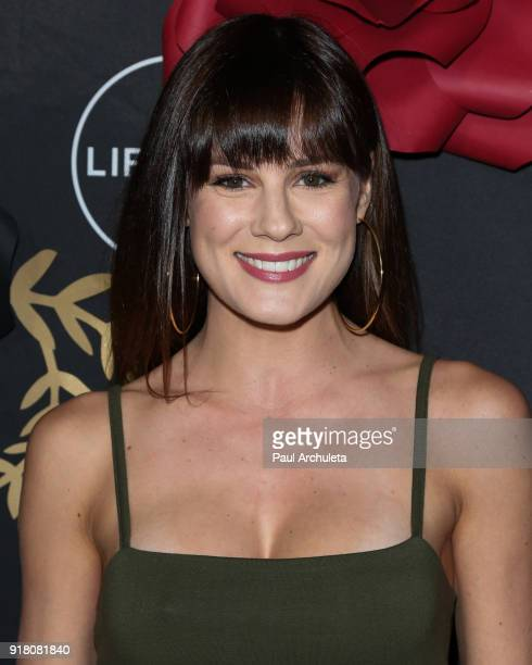 """Actress Chelsea Hobbs attends the Anti-Valentine's bash for premieres of """"UnREAL"""" And """"Mary Kills People"""" at Eveleigh on February 13, 2018 in West..."""