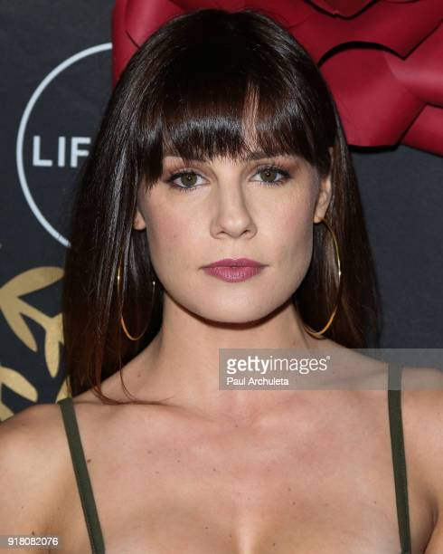 Actress Chelsea Hobbs attends the AntiValentine's bash for premieres of UnREAL And Mary Kills People at Eveleigh on February 13 2018 in West...