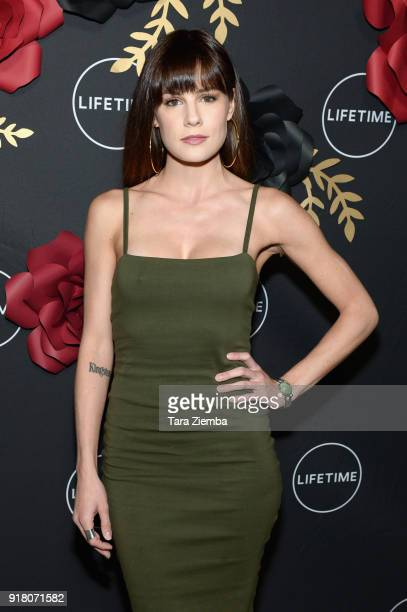 Actress Chelsea Hobbs attends the Lifetime hosts AntiValentine's Bash for Premieres of 'UnREAL' and 'Mary Kills People' at Eveleigh on February 13...