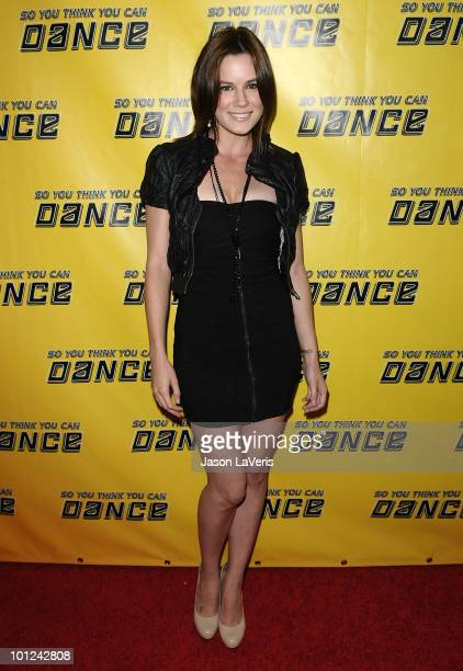 """Actress Chelsea Hobbs attends the """"So You Think You Can Dance"""" new season premiere viewing party at Trousdale on May 27, 2010 in West Hollywood,..."""