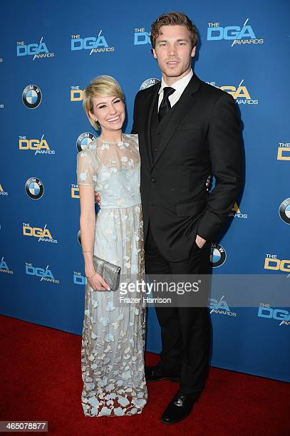 Actress Chelsea Kane and actor Derek Theler attend the 66th Annual Directors Guild Of America Awards held at the Hyatt Regency Century Plaza on...