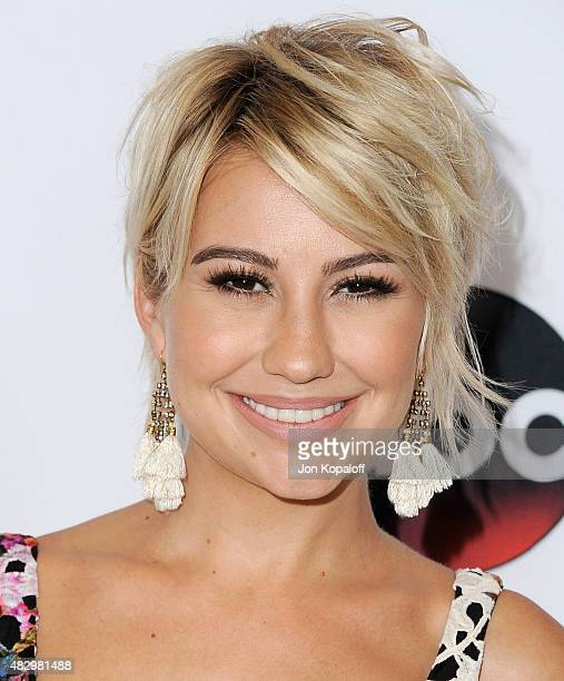 Actress Chelsea Kane arrives at Disney ABC Television Group's 2015 TCA Summer Press Tour at the Beverly Hilton Hotel on August 4 2015 in Beverly...