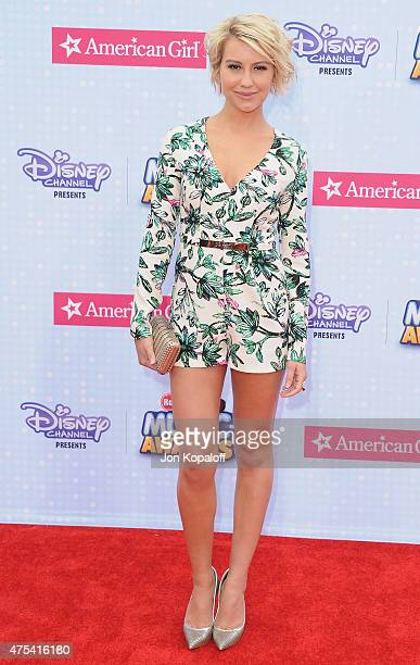 Actress Chelsea Kane arrives at the 2015 Radio Disney Music Awards at Nokia Theatre LA Live on April 25 2015 in Los Angeles California