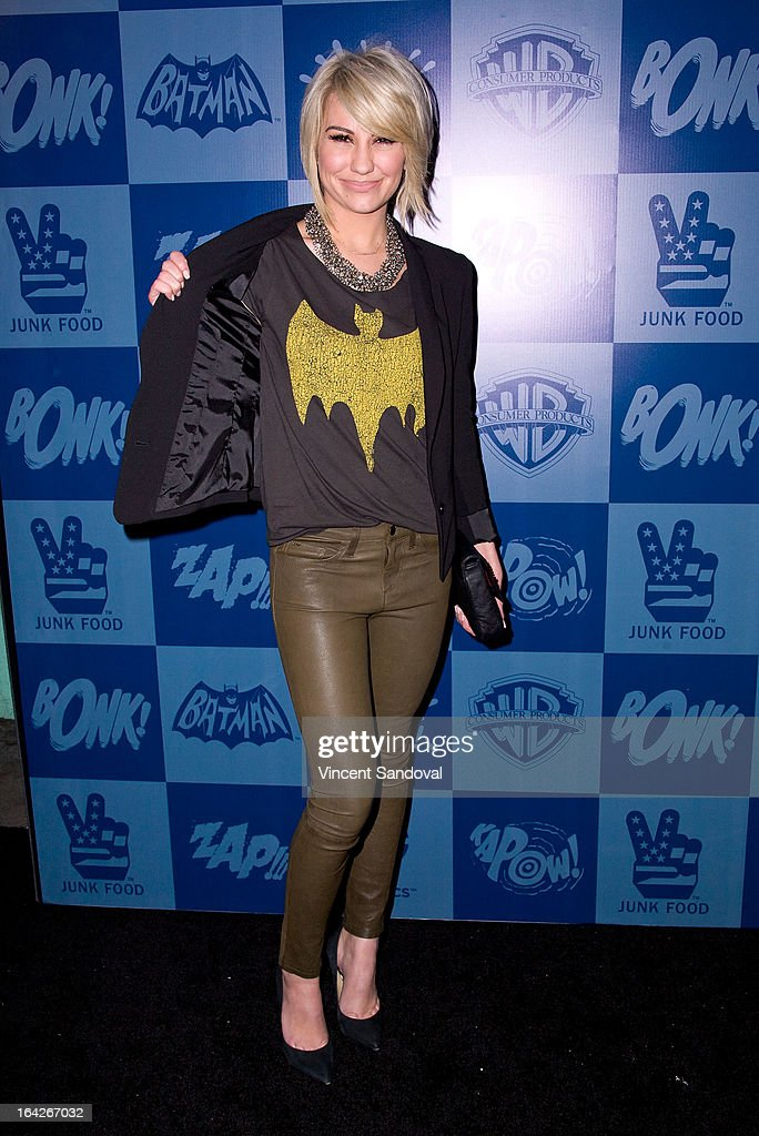 Actress Chelsea Kane attends the launch of the Batman classic TV series licensing program at Meltdown Comics and Collectibles on March 21, 2013 in Los Angeles, California.