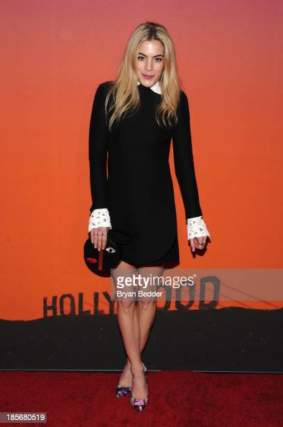 Actress Chelsea Leyland arrives for the Whitney Museum of American Art Gala Studio Party 2013 Supported By Louis Vuitton at Skylight at Moynihan...