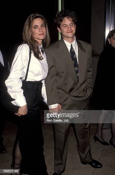 Actress Chelsea Noble and actor Kirk Cameron attend the Cerritos Center For Performing Arts Gala Opening on January 13 1993 at the Cerritos Center...
