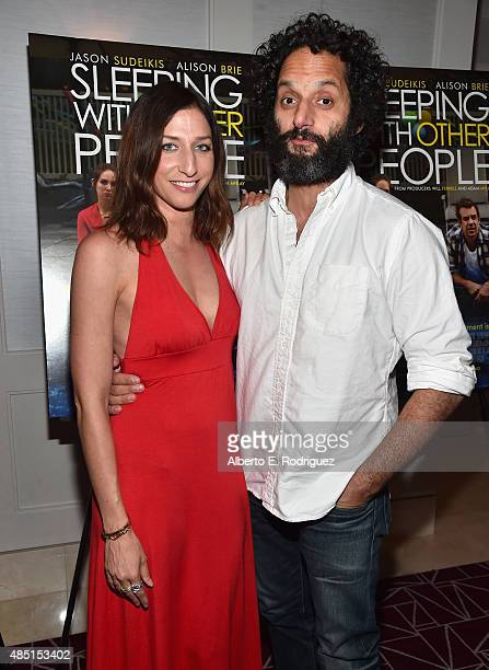 Actress Chelsea Peretti and actor Jason Mantzoukas attend the Tastemaker screening of IFC Films' 'Sleeping With Other People' on August 24 2015 in...