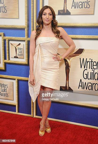 Actress Chelsea Peretti arrives at the 2015 Writers Guild Awards LA Ceremony at the Hyatt Regency Century Plaza on February 14 2015 in Los Angeles...