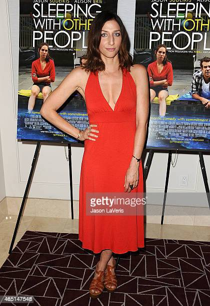 Actress Chelsea Peretti attends the tastemaker screening of IFC Films' Sleeping With Other People on August 24 2015 in West Hollywood California