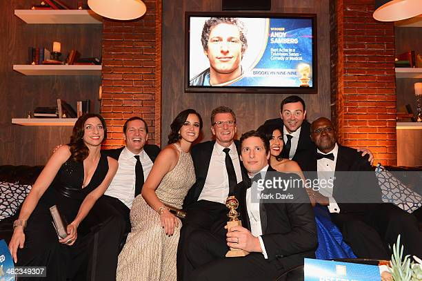 Actress Chelsea Peretti COO Fox Broadcasting Joe Earley actress Melissa Fumero Fox Chairman of Entertainment Kevin Reilly actor Andy Samberg actor...