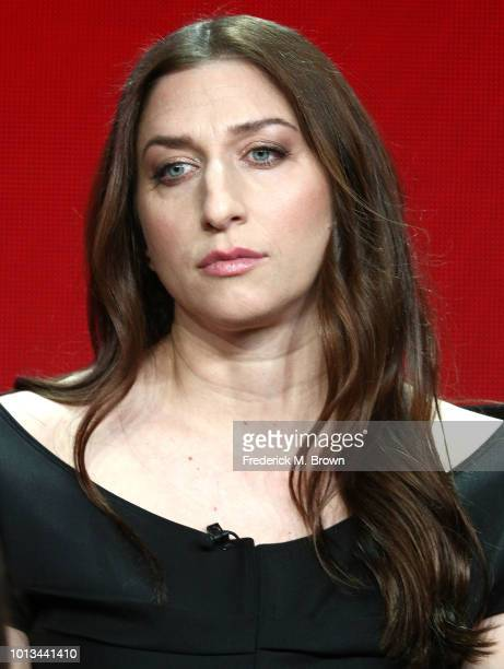 Actress Chelsea Peretti of the television show 'Brooklyn NineNine' speaks during the NBC segment of the Summer 2018 Television Critics Association...