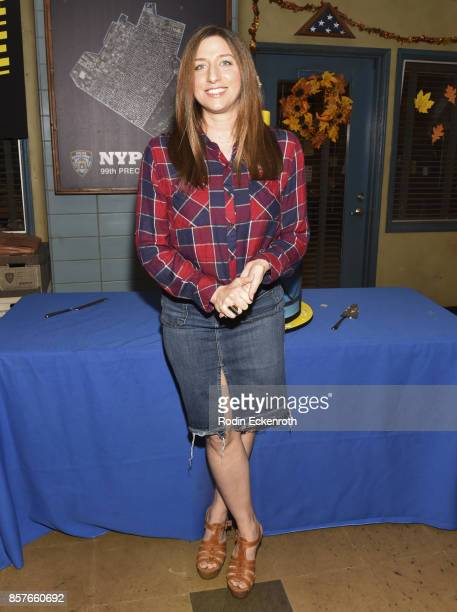 Actress Chelsea Peretti poses for portrait as Fox's 'Brooklyn NineNine' celebrates their 99th episode at CBS Studio Center on October 4 2017 in...