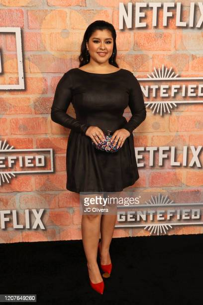 Actress Chelsea Rendon attends the premiere of Netflix's Gentefied at Plaza de la Raza on February 20 2020 in Los Angeles California