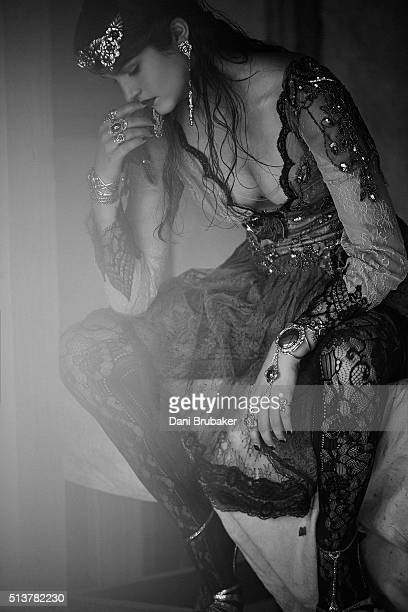 Actress Chelsea Rickettsg is photographed for Wonderland on November 9 2015 in El Segundo California