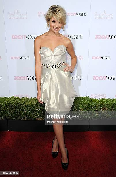 Actress Chelsea Staub arrives at The 8th Annual Teen Vogue Young Hollywood Party at Paramount Studios on October 1 2010 in Los Angeles California