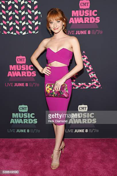 Actress Chelsea Talmadge attends the 2016 CMT Music awards at the Bridgestone Arena on June 8 2016 in Nashville Tennessee