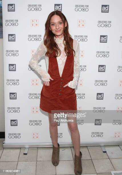 Actress Chelsea Talmadge attends the Ad Council's Creators For Good Host She Can STEM Summit at NeueHouse Hollywood on October 11 2019 in Los Angeles...