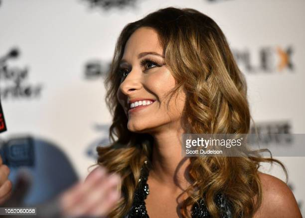 Actress Chelsea Talmadge attends the Strange 80's concert at The Fonda Theatre on October 12 2018 in Los Angeles California