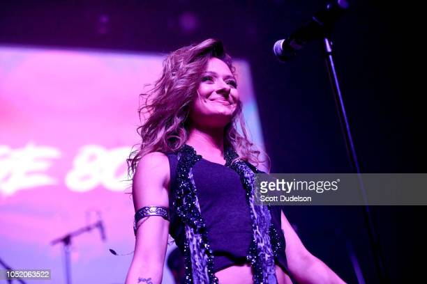 Actress Chelsea Talmadge performs onstage during the Strange 80's concert at The Fonda Theatre on October 12 2018 in Los Angeles California