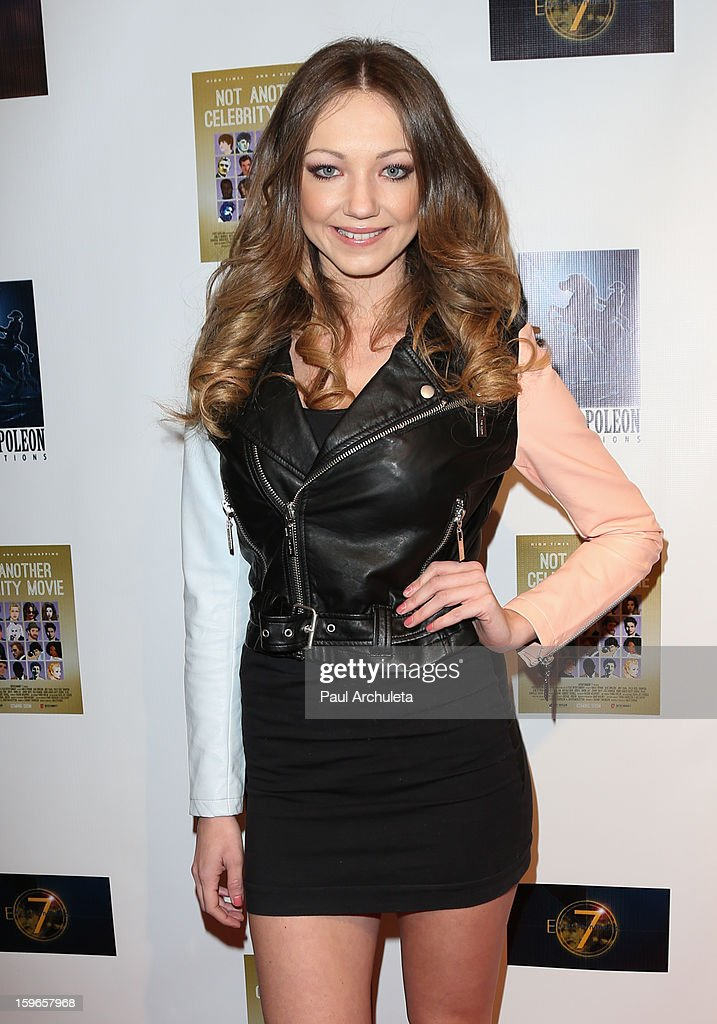 Actress Chelsea Wallace attends the premiere for 'Not Another Celebrity Movie' at Pacific Design Center on January 17, 2013 in West Hollywood, California.
