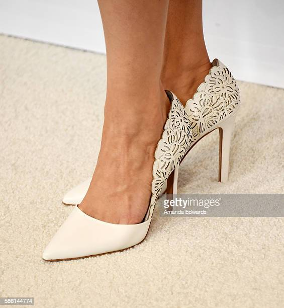 Actress Chelsey Crisp shoe detail attends the Disney ABC Television Group TCA Summer Press Tour on August 4 2016 in Beverly Hills California