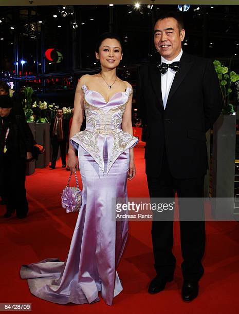 Actress Chen Hong and director Chen Kaige attend the premiere for 'Forever Enthralled' as part of the 59th Berlin Film Festival at the Grand Hyatt...