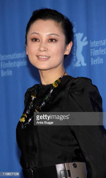 Actress Chen Hong attends the Forever Enthralled photocall during the 59th Berlin International Film Festival at the Grand Hyatt Hotel on February 10...