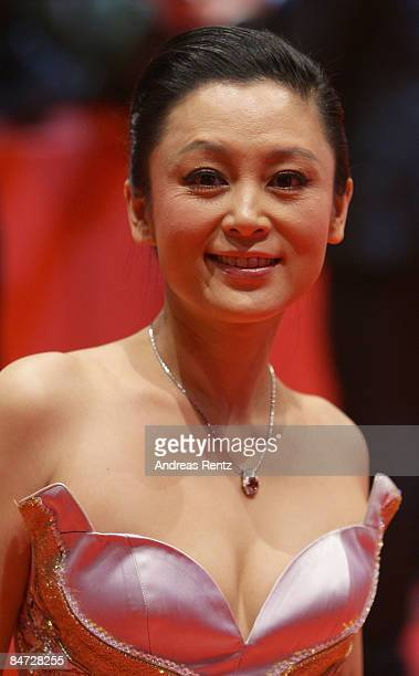 Actress Chen Hong attends the premiere for 'Forever Enthralled' as part of the 59th Berlin Film Festival at the Grand Hyatt Hotel on February 10 2009...