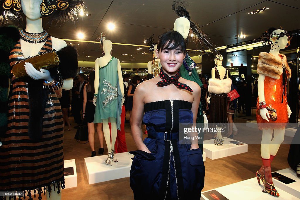 Actress Chen Ran attends Miuccia Prada and Catherine Martin Dress Gatsby Exhibition in Prada store on September 10, 2013 in Shanghai, China.