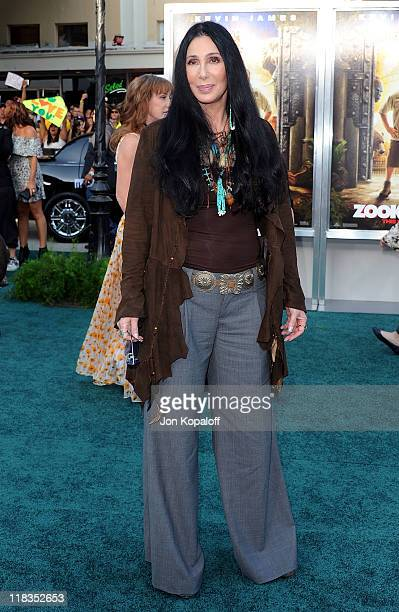 Actress Cher arrives at the Los Angeles Premiere 'Zookeeper' at Regency Village Theatre on July 6 2011 in Westwood California