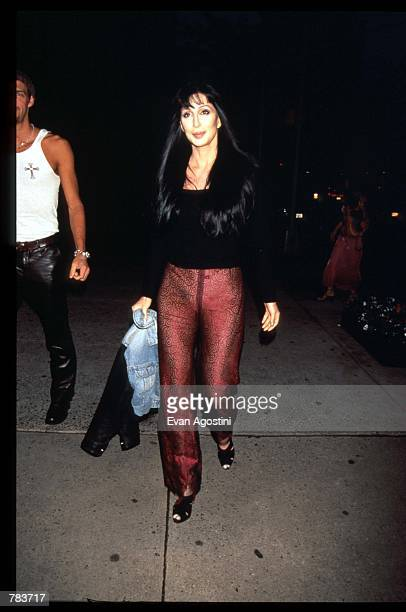 Actress Cher attends the Details magazine party June 4 1996 in New York City Details is a men's magazine that covers topics ranging from clothes and...