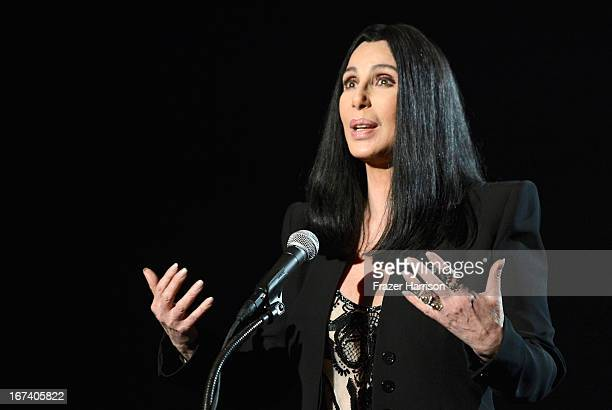 Actress Cher presenting Moonstruck at Target Presents AFI's Night at the Movies at ArcLight Cinemas on April 24 2013 in Hollywood California