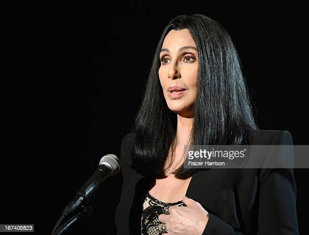 Actress Cher presenting 'Moonstruck' at Target Presents AFI's Night at the Movies at ArcLight Cinemas on April 24 2013 in Hollywood California