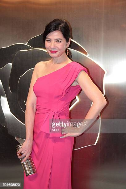 Actress Cherie Chung attends Lancome evening party on December 16 2015 in Beijing China