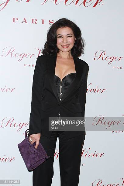 Actress Cherie Chung attends Roger Vivier store opening ceremony at Harbour City on November 25 2011 in Hong Kong Hong Kong