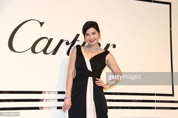 Actress Cherie Chung attends the commercial event of jewelry brand Cartier on April 19 2017 in Taipei Taiwan of China
