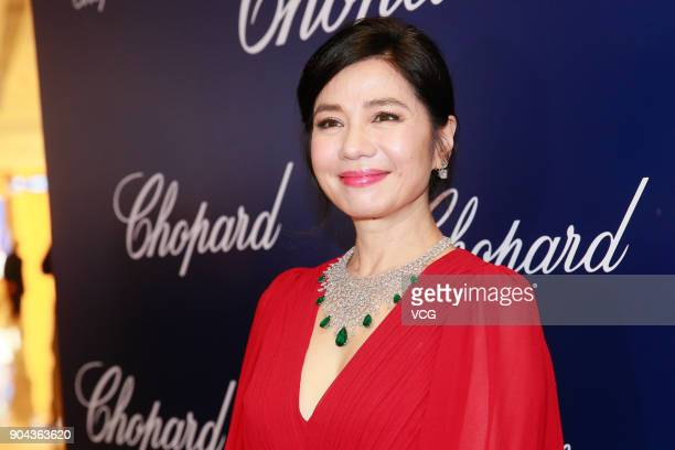 Actress Cherie Chung attends the opening ceremony of Chopard's store on January 12 2018 in Hong Kong China