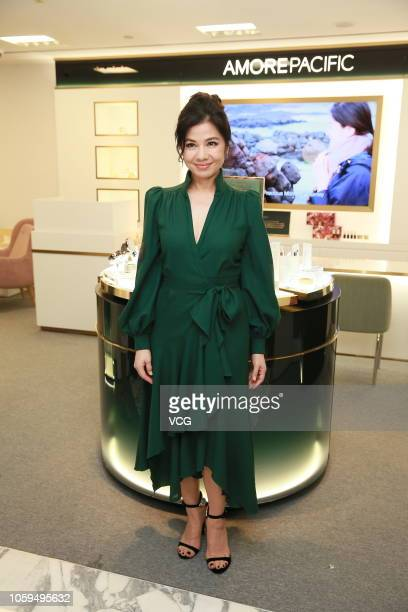 Actress Cherie Chung Chorhung attends Amorepacific opening event on October 25 2018 in Hong Kong China