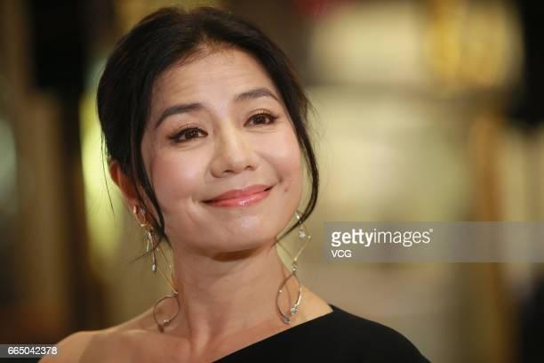 Actress Cherie Chung Chorhung attends Roger Vivier activity on April 5 2017 in Hong Kong China