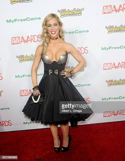 Actress Cherie DeVille arrives at the 2017 Adult Video News Awards held at the Hard Rock Hotel Casino on January 21 2017 in Las Vegas Nevada