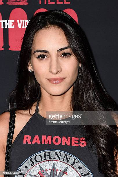 Actress Cherie Jimenez attends the launch of '6 Bullets to Hell' on May 10 2016 in Los Angeles California