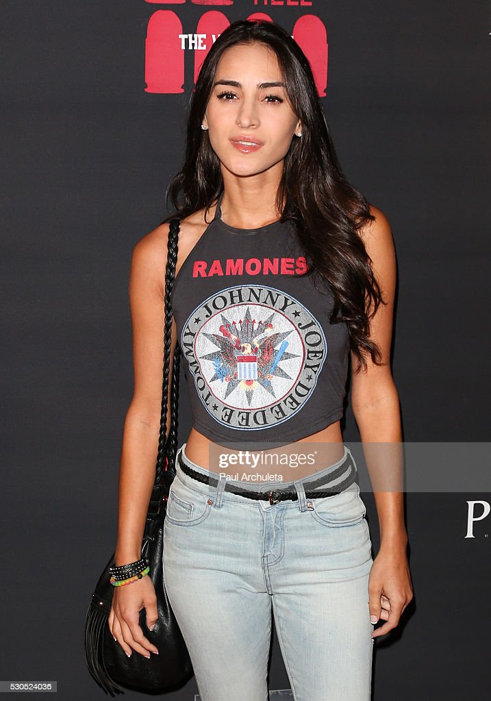 Actress Cherie Jimenez attends the launch of '6 Bullets To Hell' the video game and the movie on May 10, 2016 in Los Angeles, California.
